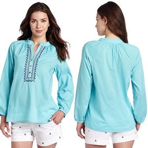 """  Lilly Pulitzer   cotton """"Elsa"""" embroidered top"""